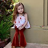 Toddler Kids Baby Girl Bell Bottoms Velvet Flare