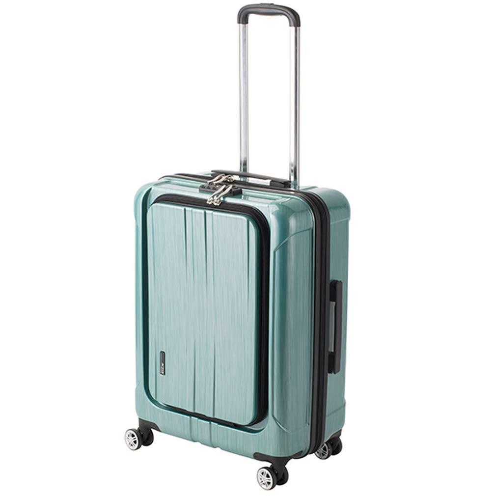 アクタス ACTUS フロントオープン ポライト 中型 Lサイズ 60L スーツケース 74-20357 グリーン 【代引き不可】[bg]   B07KHS4VLF