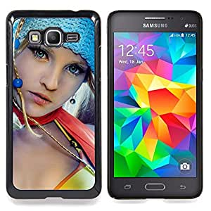 """Qstar Arte & diseño plástico duro Fundas Cover Cubre Hard Case Cover para Samsung Galaxy Grand Prime G530H / DS (Azul Eyed Girl"""")"""