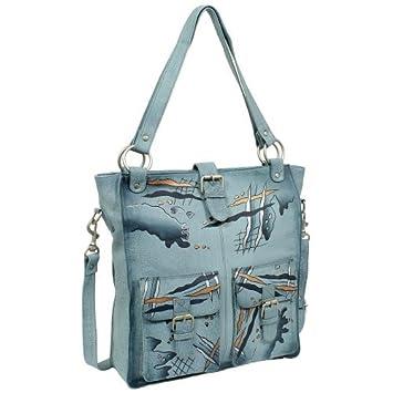 Geschenkset exklusiver Greenland Nature Schlüsselanhänger + Art & Craft Umhängetasche Handtasche Henkeltasche Schultertasche Damentasche Shopper A4