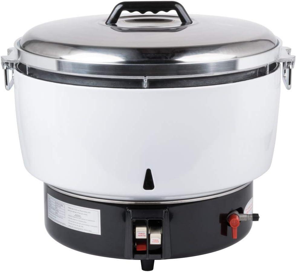 Avantco GRCNAT Natural Gas 110 Cup (55 Cup Raw) Gas Rice Cooker - 14,000 BTU