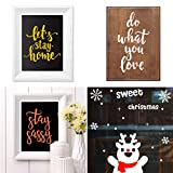 YeulionCraft DIY Self-Adhesive Silk Screen Printing Stencil, Phrase Sign Pattern for DIY Home Decor, T-Shirt, Pillow Fabric, Painting on Wood, Reusable Stencils, Love-Bodies