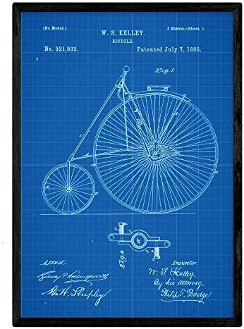 Nacnic Poster con Patente de Bicicleta 3. Lámina con diseño de ...