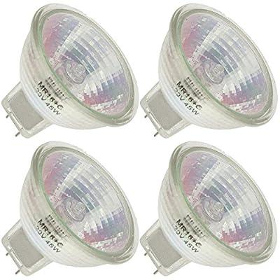 Industrial Performance Q45MR16/FL 120V, 45 Watt, MR16, Bi-Pin (GU7.9/8.0) Base Light Bulb (4 Bulbs)