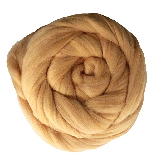 Zituop Super Soft Chunky Yarn Bulky Roving for Arm Knitting Blanket, 500g-1.1lb (Khaki)