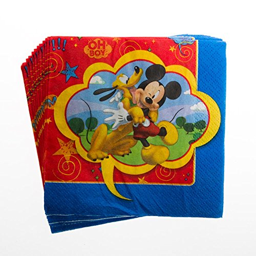 Mickey Mouse Party Napkins - Mickey Beverage Napkins - 16 Count