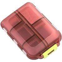 Pastillero portátil con 10ranuras para vitaminas, medicina; dispensador de almacenamiento, organizador, contenedor diario