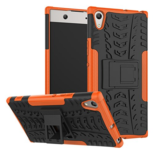 Sony Xperia XA1 Ultra case,Yiakeng Shock Absorbing Dual Layer Protective Fit Armor Case Cover Shell for Samsung Xperia XA1 Ultra Dual, Sony G3212, Sony G3226 6 (Orange)