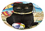 Doggie of the Day Pet Friendly Beach Black Cat Oval Envelope Seals OVE62200 (50)