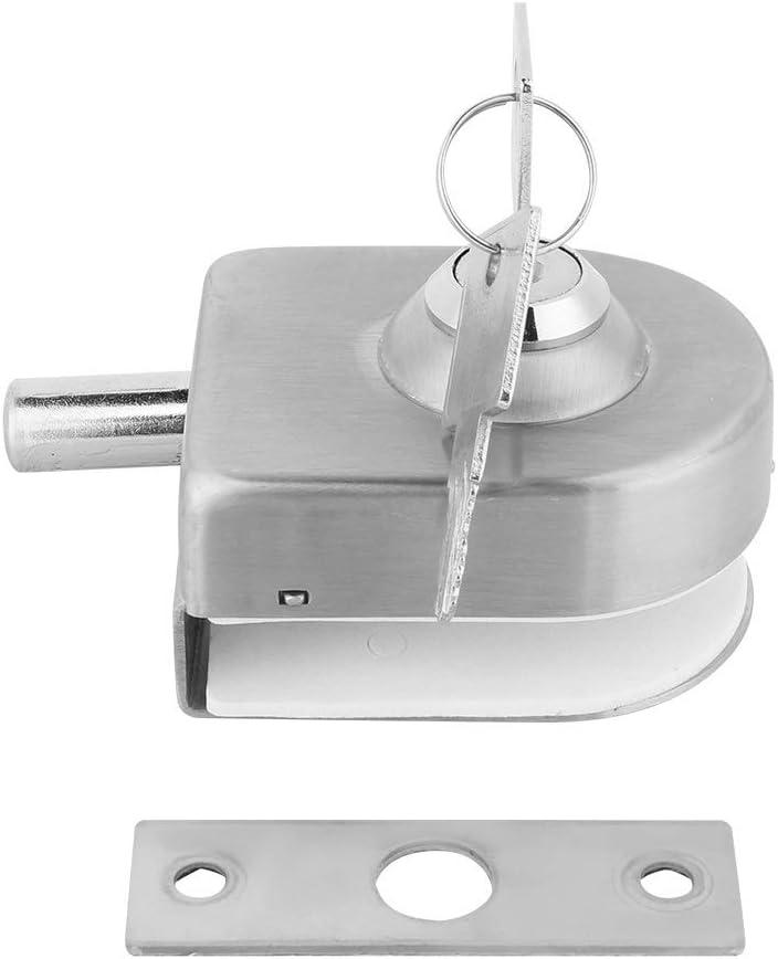 Cerradura de Puerta de Cristal, Cerradura de la Puerta de Acero Inoxidable Vidrio Pestillo para el Hogar Accesorios de Baño