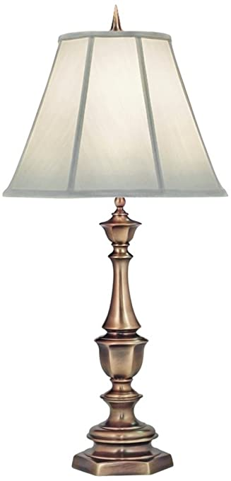 Stiffel Ivory And Antique Brass Table Lamp Amazon Com