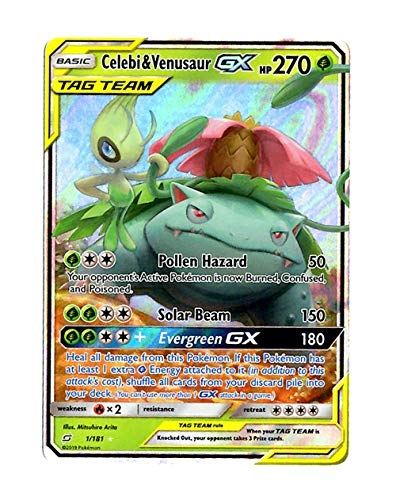 Sun Moon Team Up - Celebi & Venusaur GX 1/181 - Holo for sale  Delivered anywhere in USA