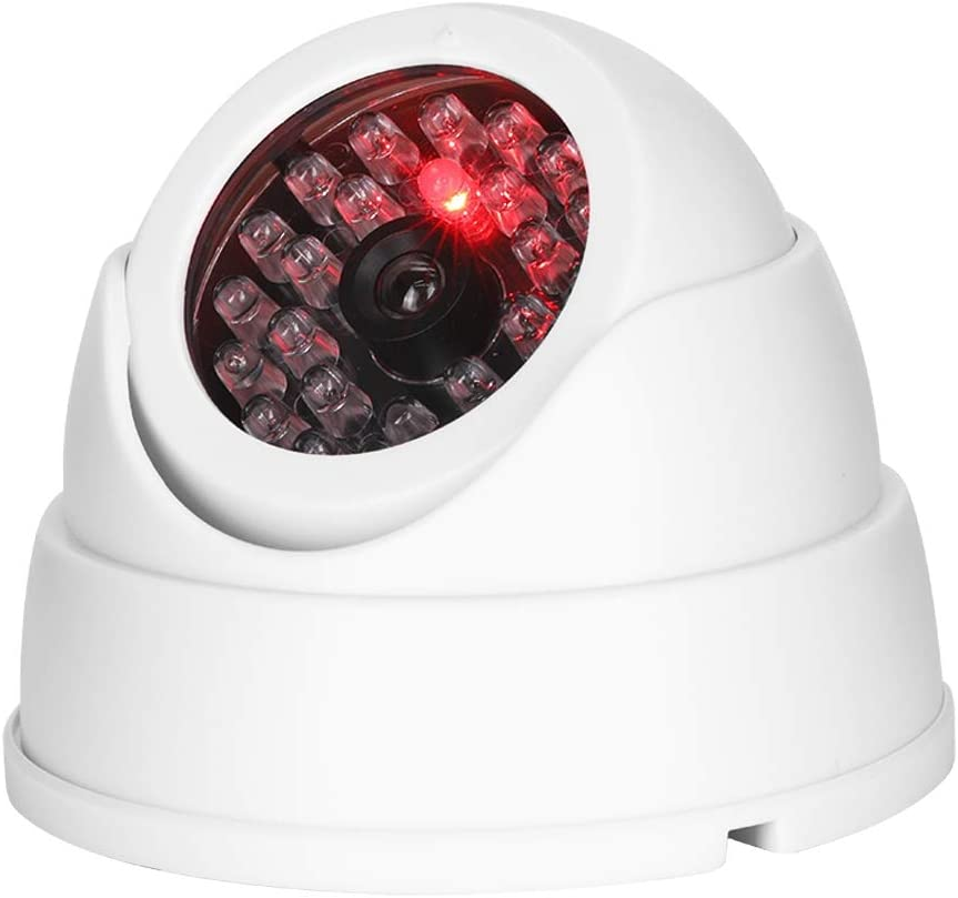 Pangding Dummy Dome Camera Mr-18b Wireless Indoor Outdoor Simulated Fake Monitor Surveillance Cam with 30pcs Dummy IR LEDs