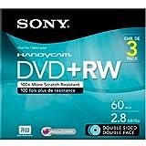 Sony 3DPW60DSR2HC 3-Pack 8cm DVD+RW Double Sided