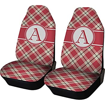 Amazon.com: Plaid Car Seat Covers (Set of Two) (Personalized ...
