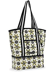 Sakroots Womens Artist Circle Cooler Beach Tote, Sunshine Sun Desert, One Size