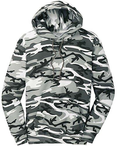 Logo Sweatshirt Military (Joe's USA Camoflauge Hooded Sweatshirt,Medium Winter Camo)