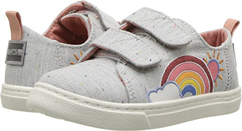 TOMS Kids Baby Girl's Lenny (Infant/Toddler/Little Kid) Grey Multi Drizzly Weather 3 M US Infant