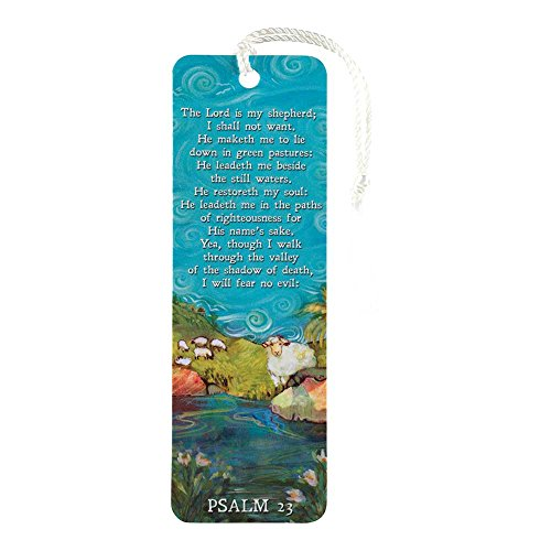 (Lord Is My Shepherd Blue Paper 6 x 2 Inches Bookmark Set of 12)