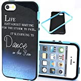 iPhone 5S Case,IVY [Frame Bumper][2in1][Scratch-Resistant][Anti-shock][Shock Absorbent][Dance In The Storm] For Apple iPhone 5S 5