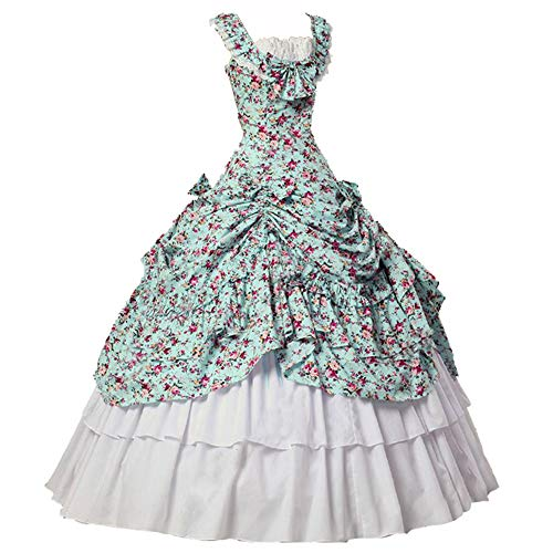 I-Youth Womens Victorian Gothic Queen Lolita Dress Ball Gown Steampunk Costume Marie Antoinette Costume Dress (XL, 3Floral)]()