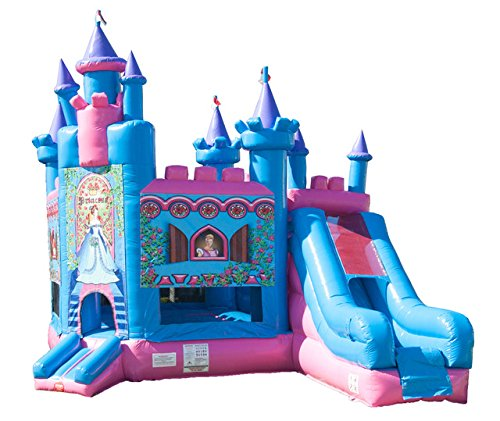 Princess Castle Bounce House - TentandTable Princess Castle Bounce House Inflatable Combo Slide and Moonwalk- Includes 1.5 Hp Blower and Free Shipping