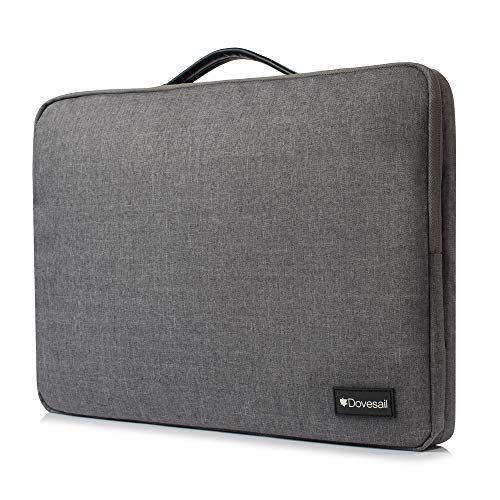 14-15.6 Inch Laptop Sleeve, Dovesail Laptop Bag 360° Protective Water Resistant case with Handle for 15
