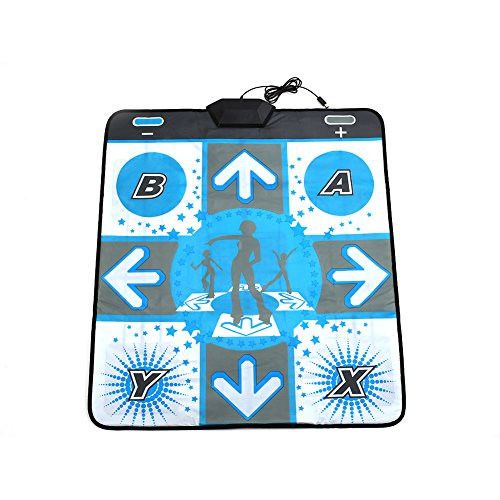 Cewaal Non Slip DDR Dance Mat Dancing Pad Cushion Stage For Nintendo Wii GameCube NGC (Pad Wii Dance)