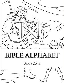 Bible Alphabet: Coloring Sheets: BookCaps: 9781500229887: Amazon.com ...
