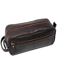Genuine leather Toiletry Bag for Men travel kit dopp kit Groomsmen Shaving Kit Brother Gift For Boyfriend Gift For Husband Gift Father Gift For Men