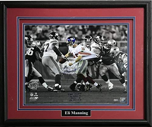 Eli Manning Autographed Signed 16x20 Photo Ins The Escape SB MVP Framed Signature Steiner