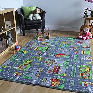 high quality kids room city car race play mat rug kids boys road rh amazon co uk Best Carpet for Family Room Best Carpet for Recreation Room