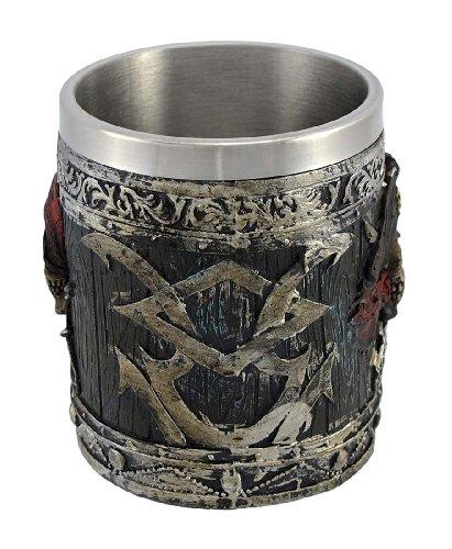 pirate skull drinking tankard coffee mug cup potc
