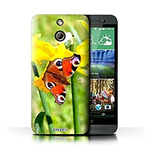 KOBALT? Protective Hard Back Phone Case / Cover for HTC One/1 E8 | Butterfly Design | Floral Garden Flowers Collection by lolosakes