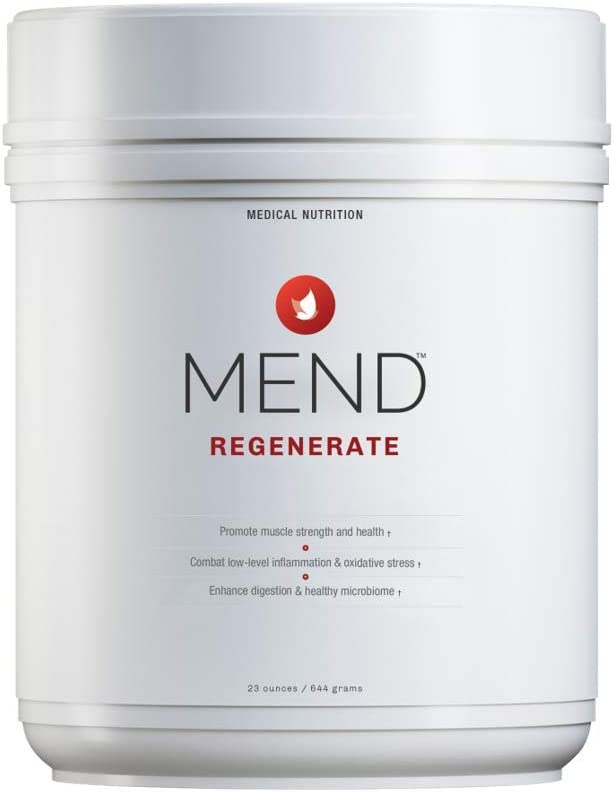 MEND Regenerate – Muscle Recovery, Immune Support, and Sports Nutrition Supplement – for Men s and Women s Health – Natural, Gluten Free, and Non-GMO – Cocoa Flavored Protein Powder – 20 Servings