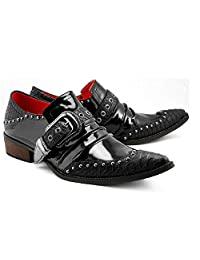 US Size 5-12 New Black Leather Formal Office Dress Mens Slip On Loafers Shoes