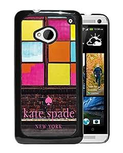 Unique Designed Kate Spade Cover Case For HTC ONE M7 Black Phone Case 267