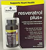 Member039s Mark Resveratrol Plus CardiovascularAntioxidant 100mg Trans-Resveratrol One bottle 120 capsules Discount