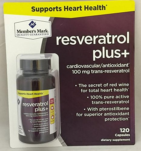 Sams Members Mark (Member's Mark Resveratrol Plus Cardiovascular/Antioxidant 100mg Trans-Resveratrol (One bottle (120 capsules)))