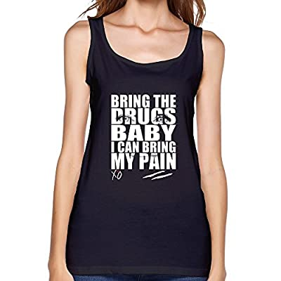 SFMY Women's Bring The Drugs Baby I Can Bring My Pain The Weeknd Xo Tank Top