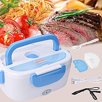Electric Lunch Box - #Christmas Gift# Toursion Portable Food Heater Car and Home Dual Use with Removable Stainless Steel 304 Container & PP Removable Container Food Grade Material 110V&12V