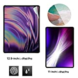 New 💘Tuscom 2Pcs HD PET Soft Film Screen Protector Film,for iPad Pro 11/12.9 inch,Esistant to Erosion/Finger Print/Dust/Scratches Clear Soft Screen Protector (12.9inch)