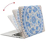 MOSISO Plastic Pattern Flower Hard Case Shell with