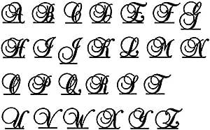 Monogram Acrylic Cake Topper Letter Initial Black A B C D E F G H I J K L M N O P Q R S T U V W X Y Z & (O)