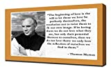 Thomas Merton Love Quotes - Canvas Art Print