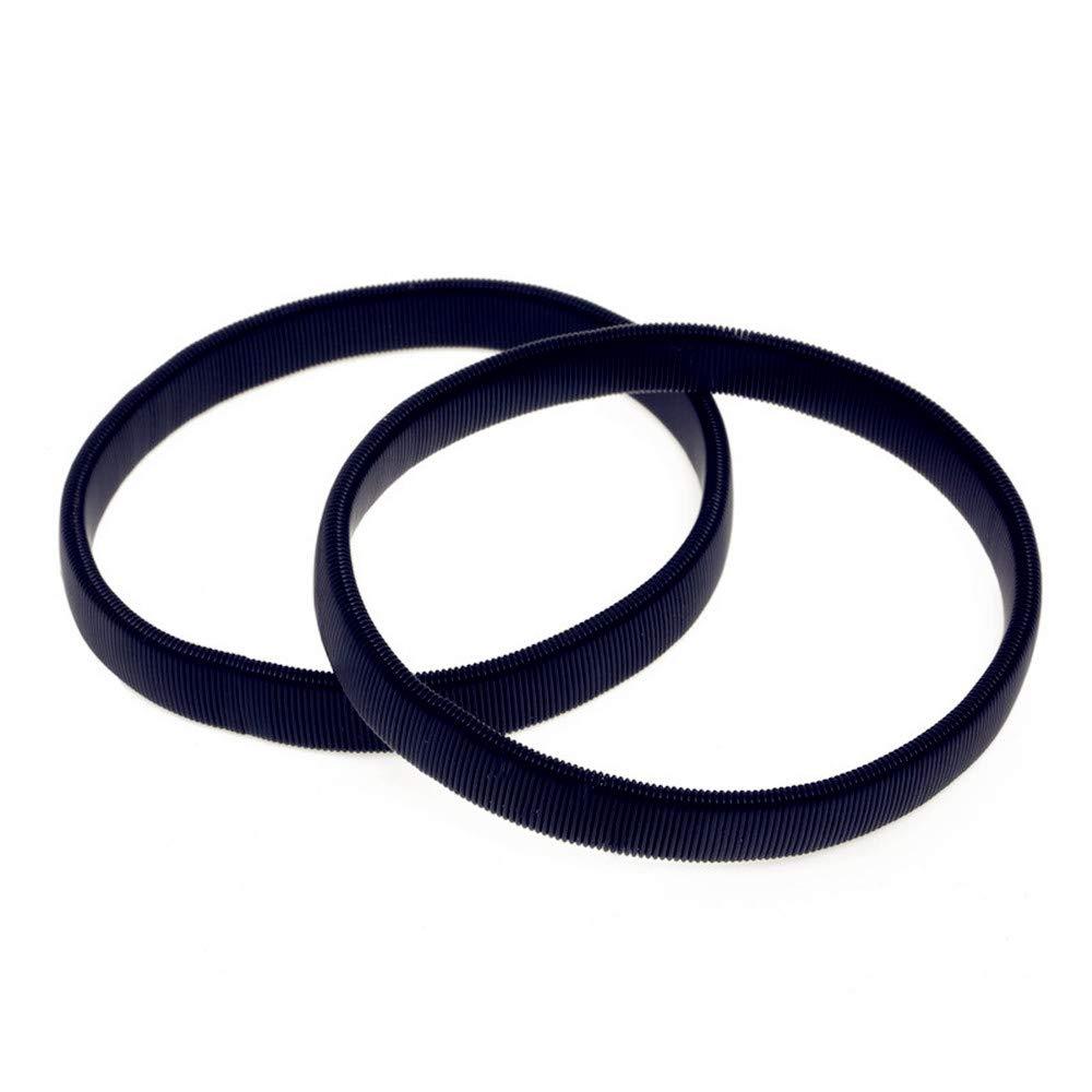 Anti Slip Armbands Elastic Shirt Sleeve Holders Metal for Band Stretch Garters (Black - 2 Pcs)