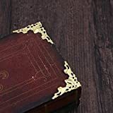 WINOMO 24Pcs Metal Book Corner Protector Scrapbook