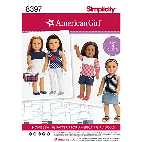 Simplicity Creative Patterns US8397OS Sewing Pattern Crafts, One (Doll Sewing Craft Pattern)