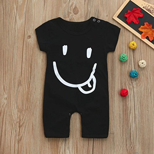 Fineser Summer Toddler Infant Baby Boys Cartoon Print Short Sleeve Romper Jumpsuit Bodysuit Outfits Clothes