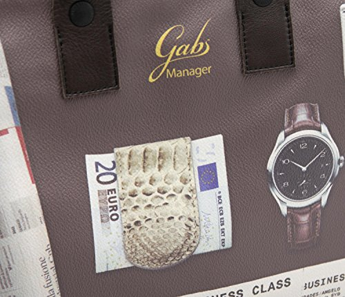 GABS Borsa Donna Piatta Print dav e Vacchetta DT Affari